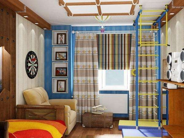 Шторы в комнату подростка мальчика: занавески и тюль в спальню школьника