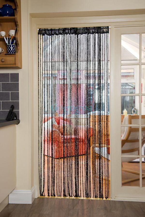 Декоративные шторы: деревянные, из пластика, нитяные на межкомнатные двери