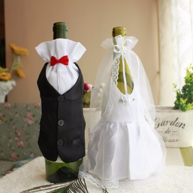 Оформление бутылок шампанского на свадьбу своими руками: мастер-класс по украшению
