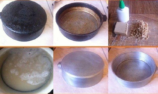 Как очистить чугунную сковороду от многолетнего нагара в домашних условиях, как правильно почистить от толстого черного слоя гари, способы чистки