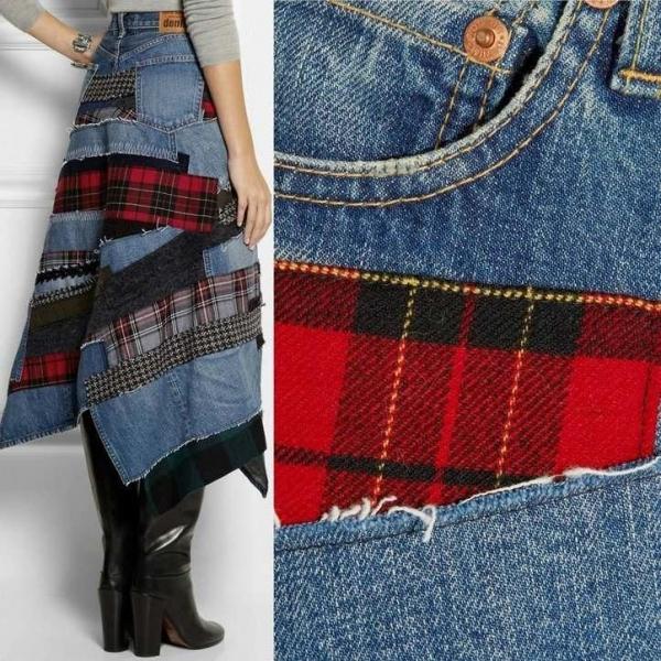 Лоскутное покрывало из старых джинсов: делаем своими руками