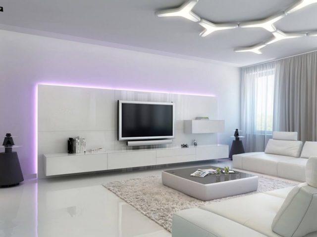 Оригинальная мебель для оформления квартиры в стиле хай-тек