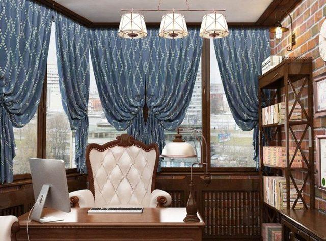 Шторы в офис: приемная, кабинет руководителя, описание, примеры в интерьере