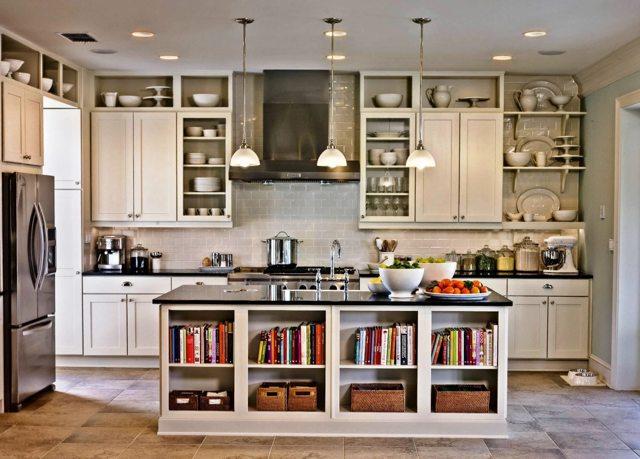 Кухня со шкафчиками до потолка: преимущества и недостатки