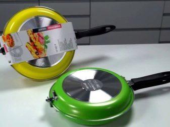 Двухсторонняя сковорода с антипригарным покрытием: особенности, как пользоваться, сковородка-блинница и сковородка-гриль, сковородка