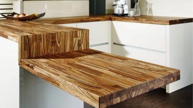 Деревянная столешница на кухне: особенности защитных покрытий